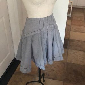 Ted Baker blue white pinstripe lined skirt size 4